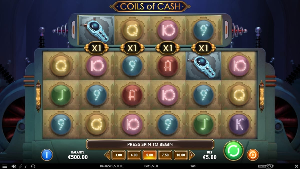 Coils of Cash Slot Gameplay