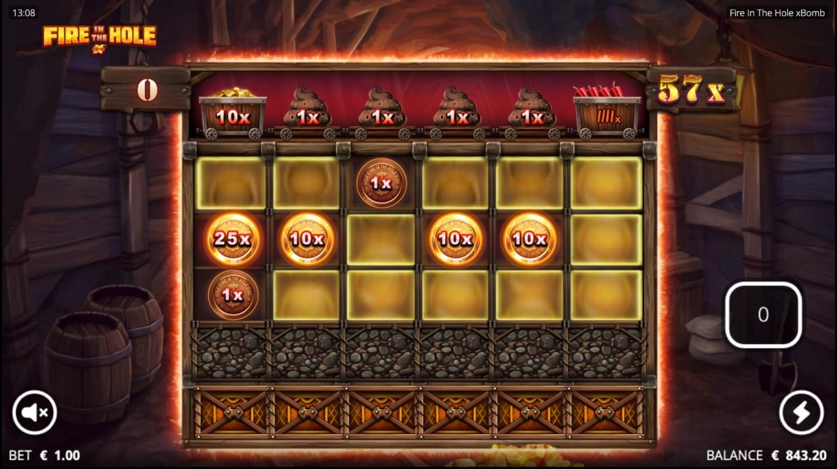 Fire in the Hole xBomb slot bonus