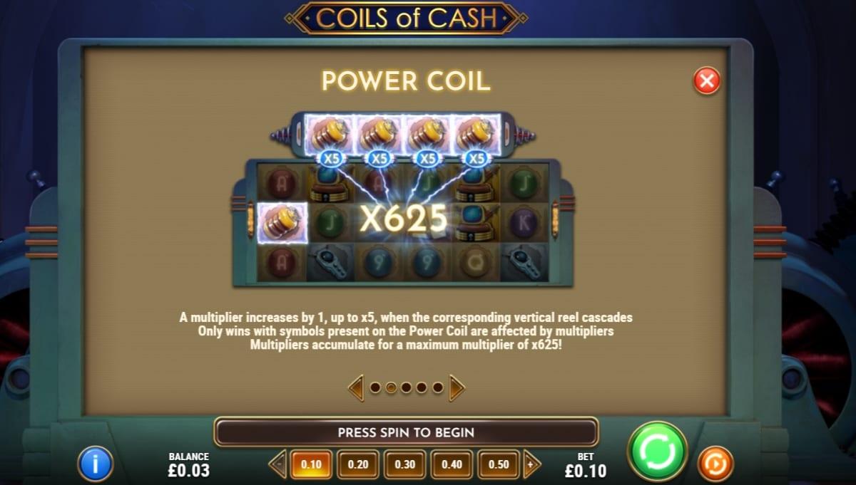 Coils of Cash slot Power Coil
