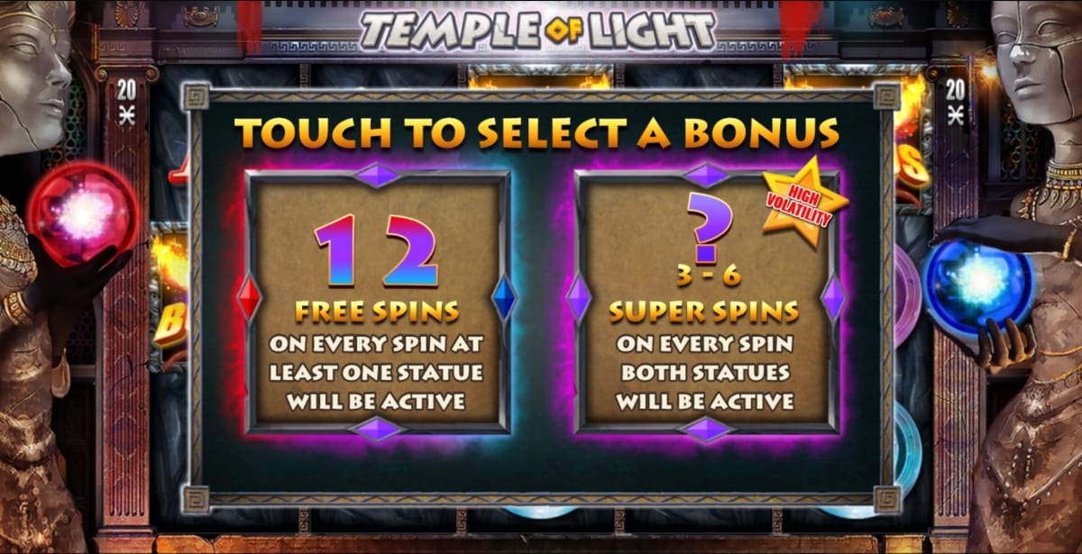 Temple of Light Slot Free Spins