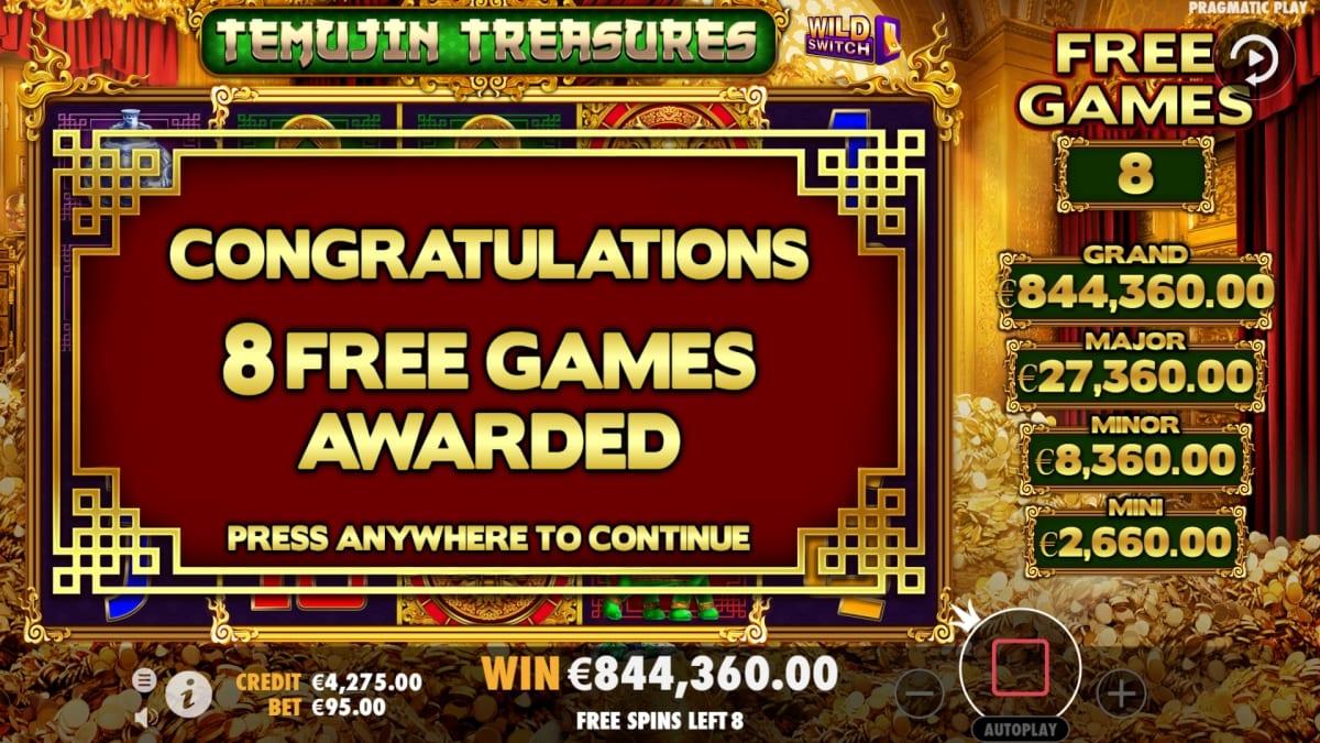 Temujin Treasures Slot Bonus