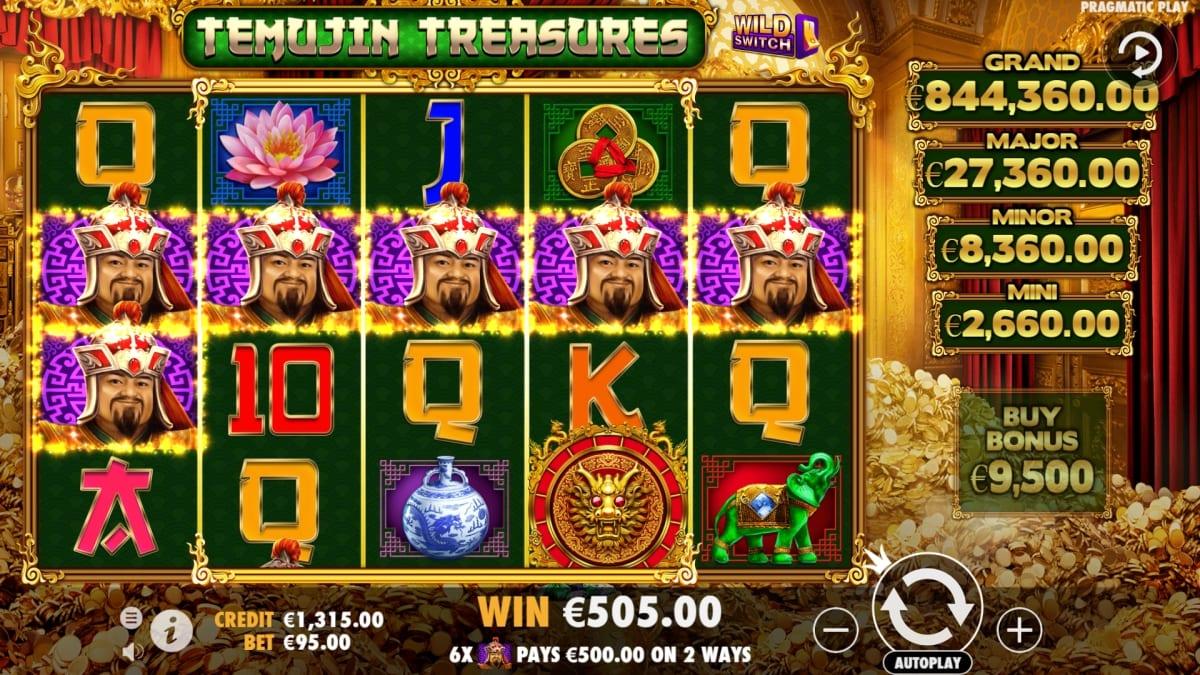 Temujin Treasures Slot Gameplay