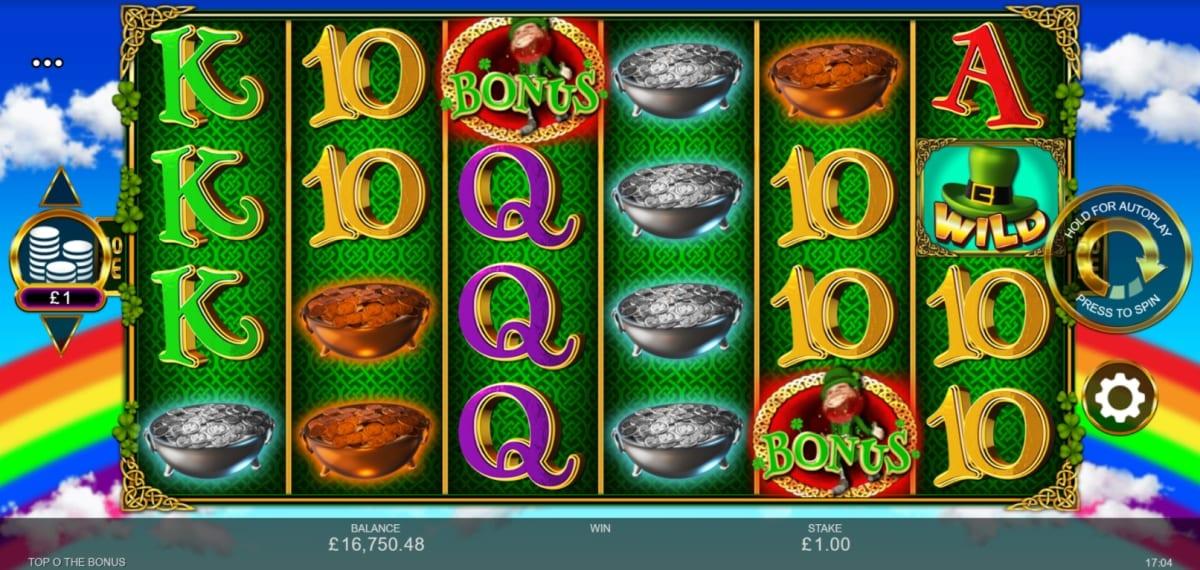Top O' the Bonus Slot Gameplay
