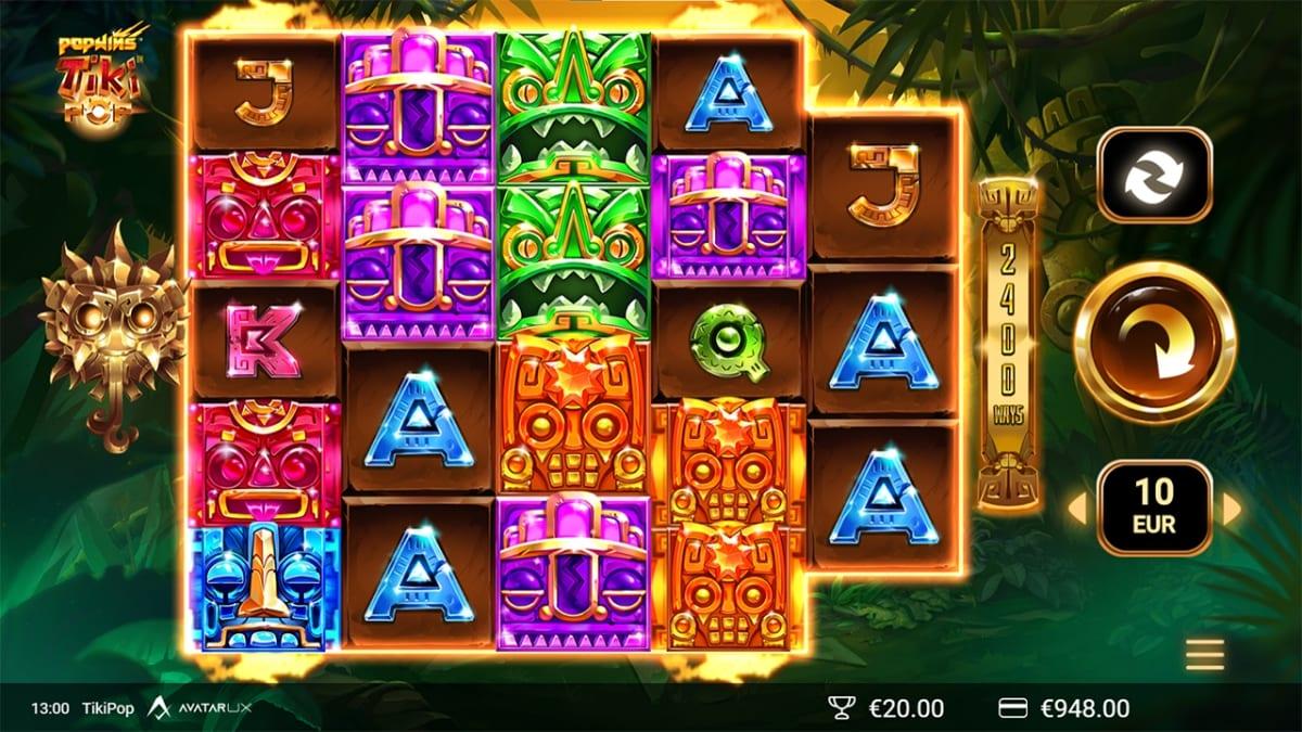 TikiPop Slot Gameplay