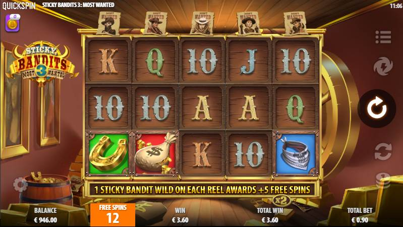 Sticky Bandits 3 Most Wanted Free Spins