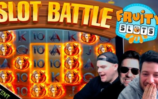 SLOT BATTLE SUNDAY!! Fruity Slots vs NetEnt Slots!!