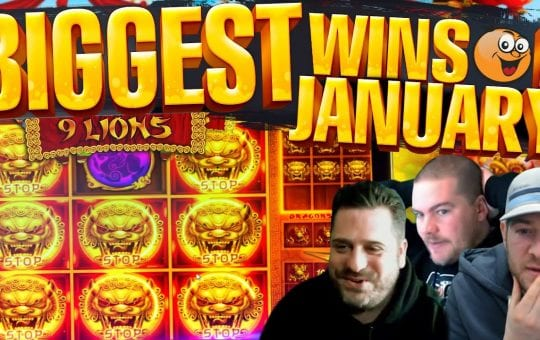 BIG WINS! January HIGHLIGHTS! Epic Slot Wins!!