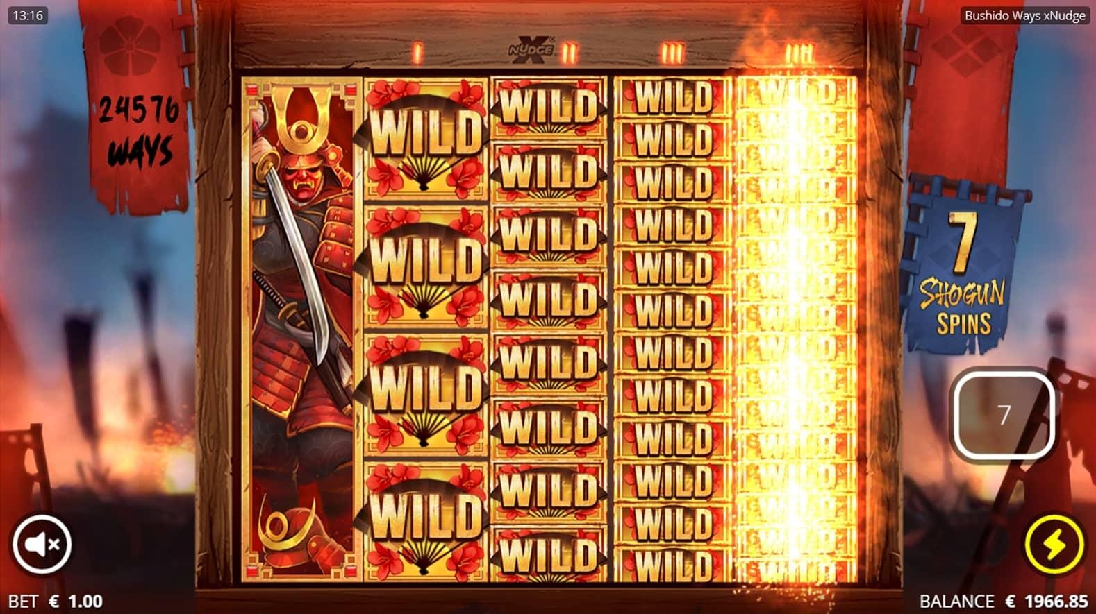 Bushido Slot Free Spins