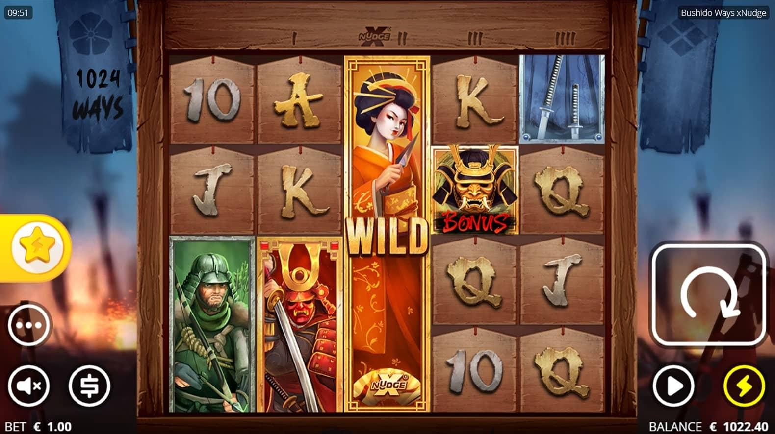 Bushido Slot Gameplay