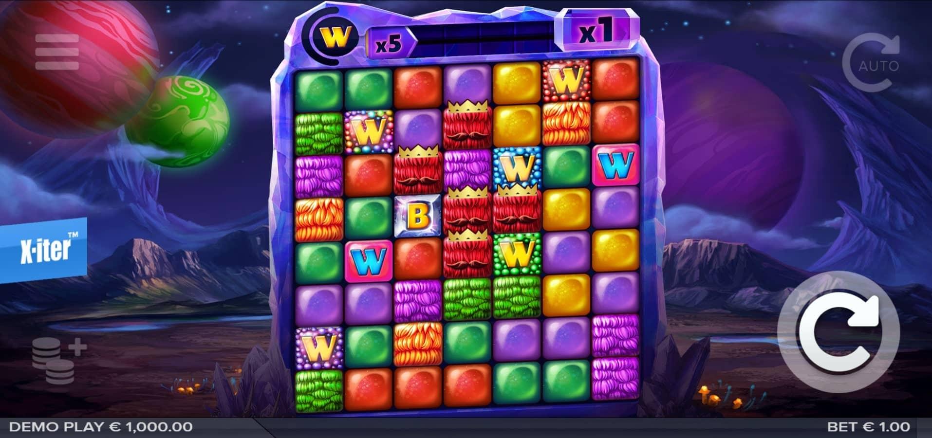 Cluster Slide Slot Base Game