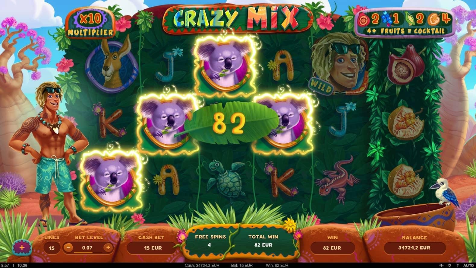 Crazy Mix Slot Free Spins