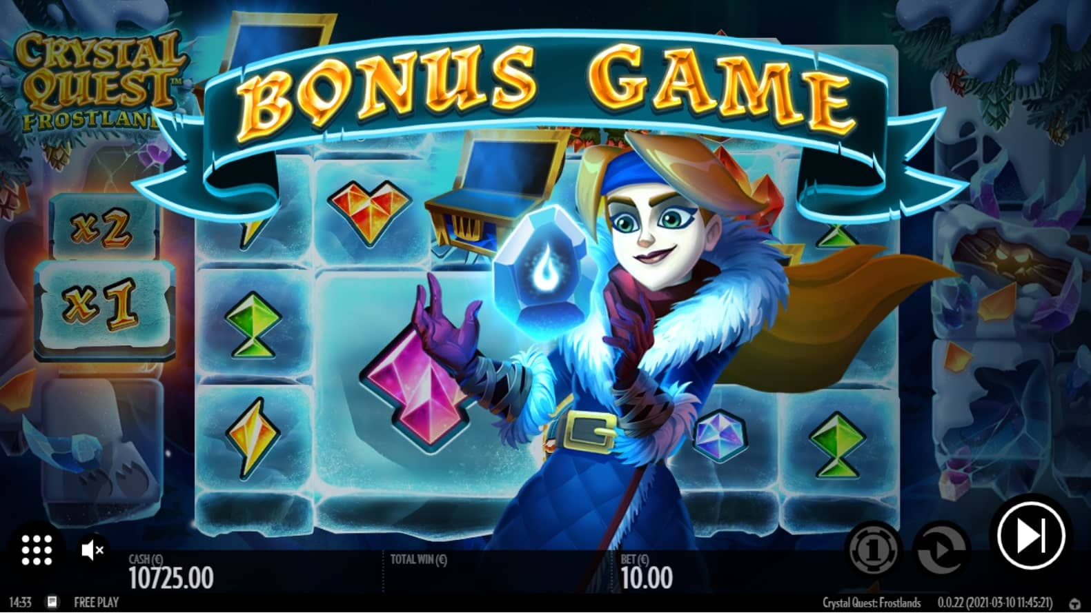 Crystal Quest Frostlands Free Spins