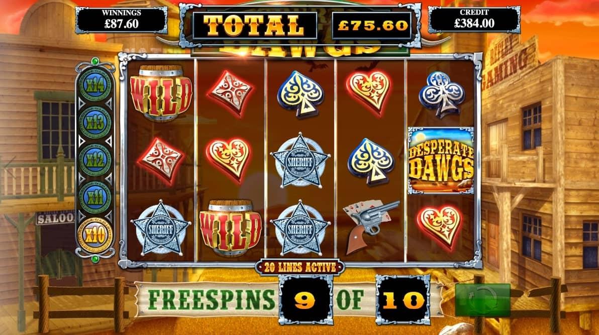 Desperate Dawgs Slot Bonus