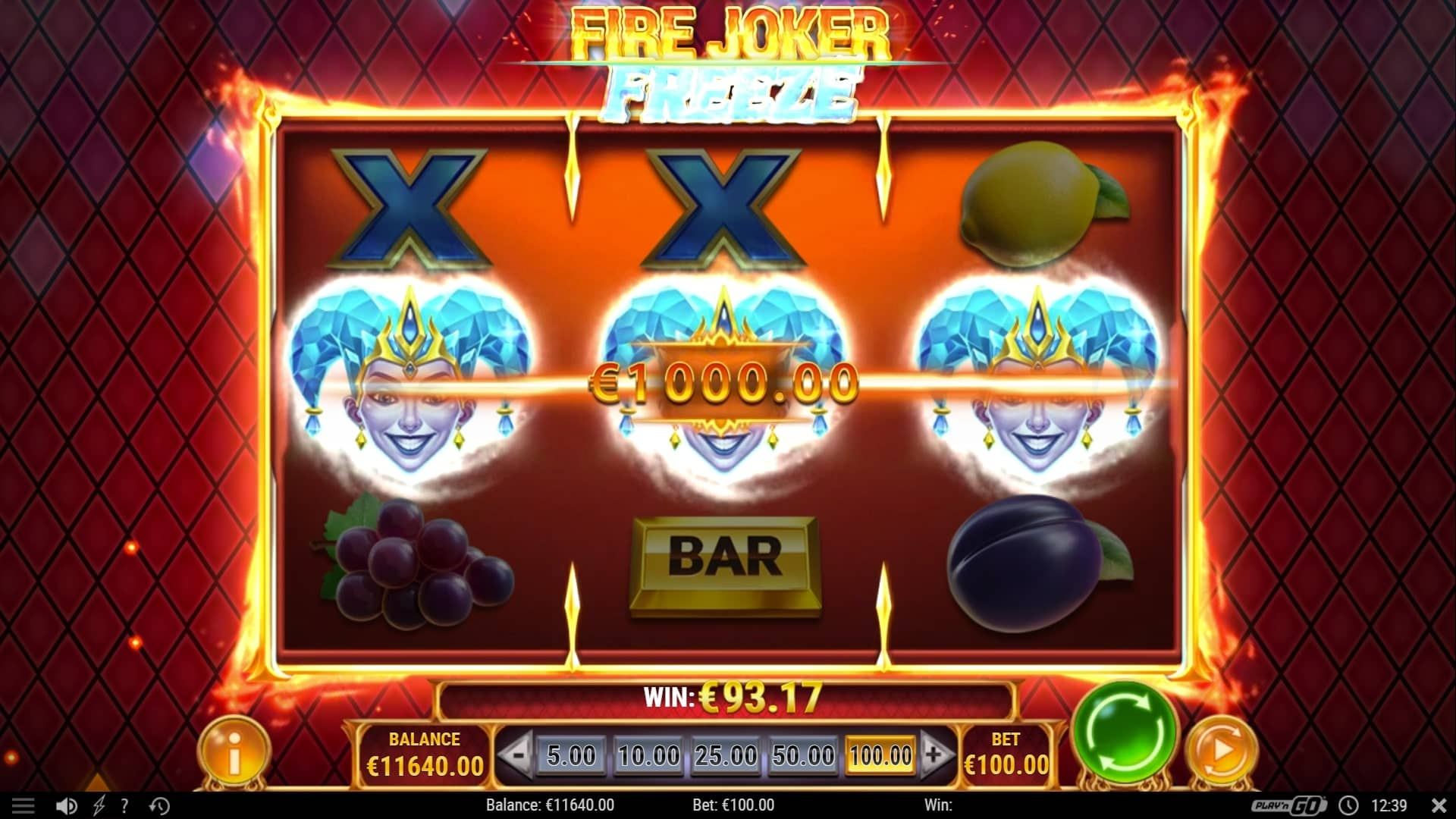 Fire Joker Freeze Big Win