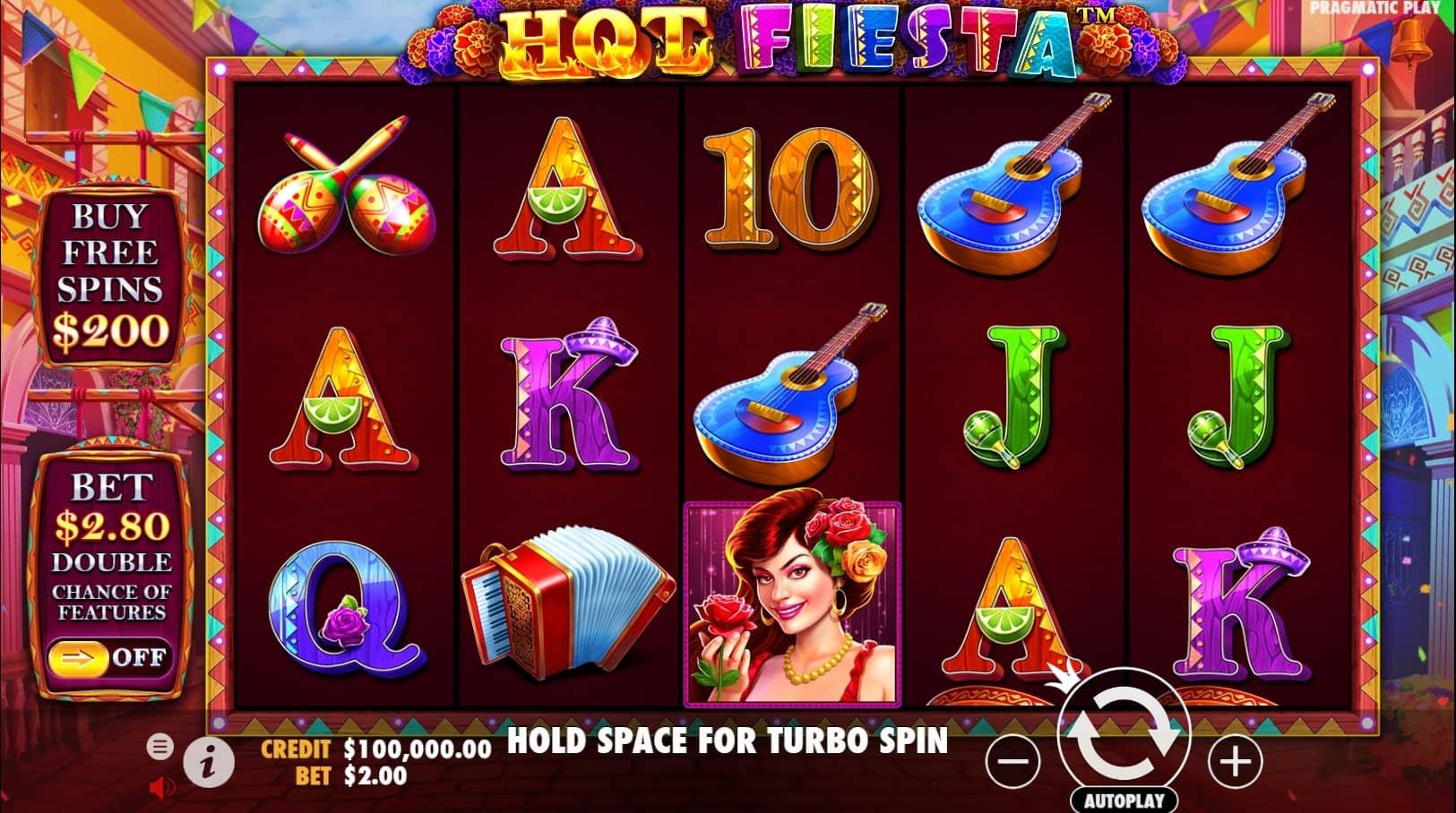 Hot Fiesta Slot Gameplay
