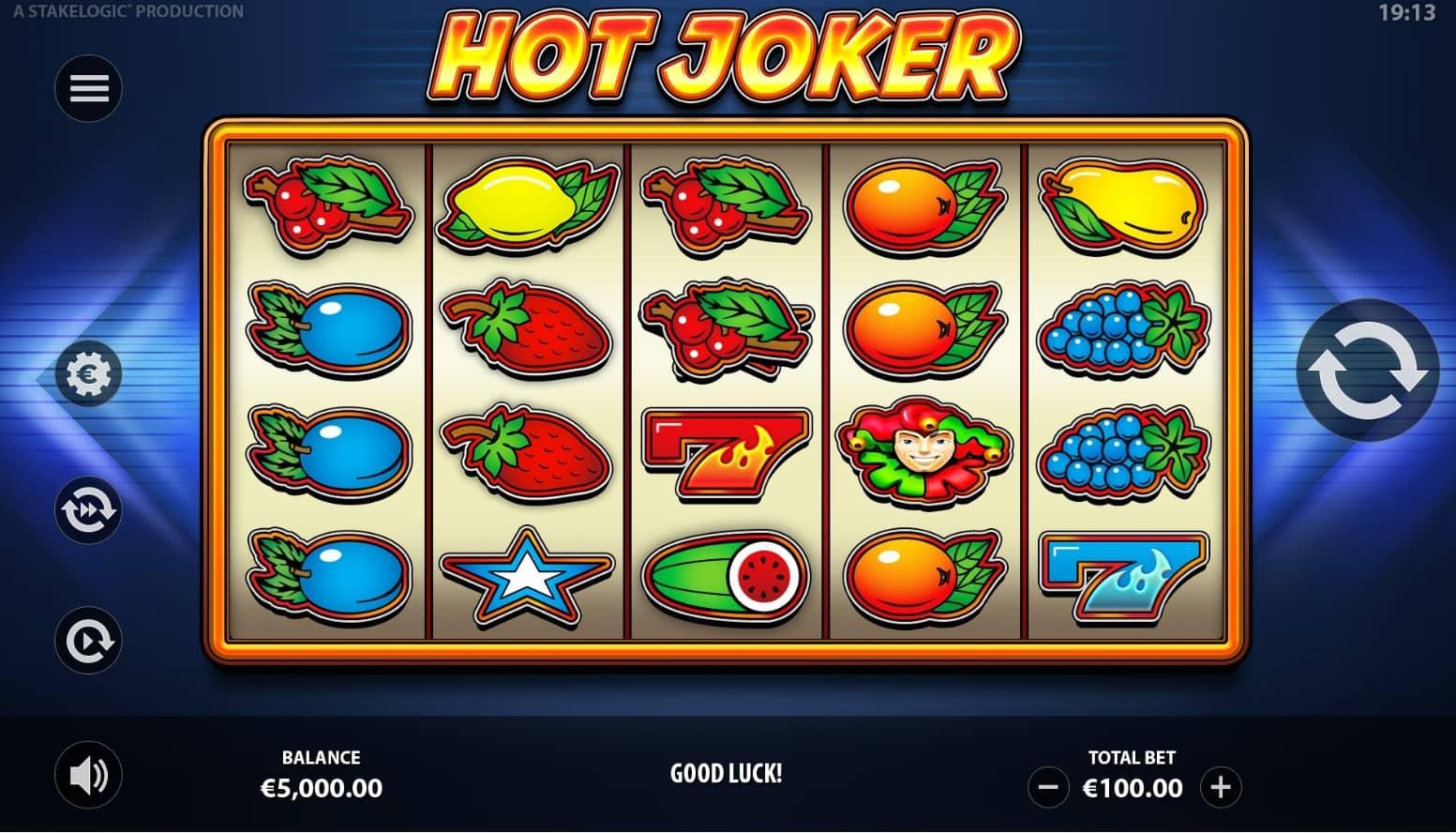 Hot Joker Slot Base Game