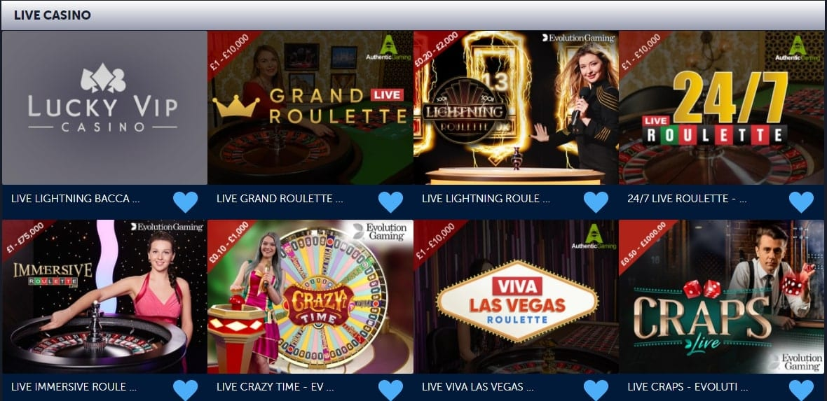 Lucky VIP Live Casino