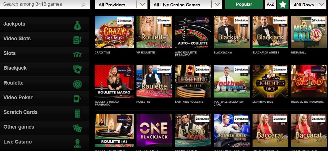 Mr Vegas Casino Live Games