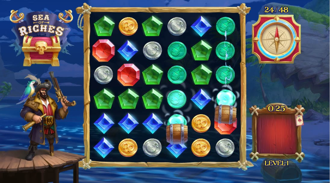 Sea of Riches Slot Base Game