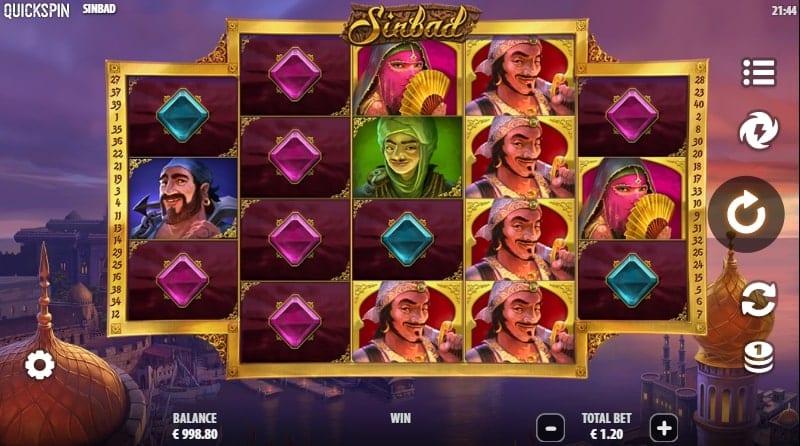 Sinbad Slot Base Game