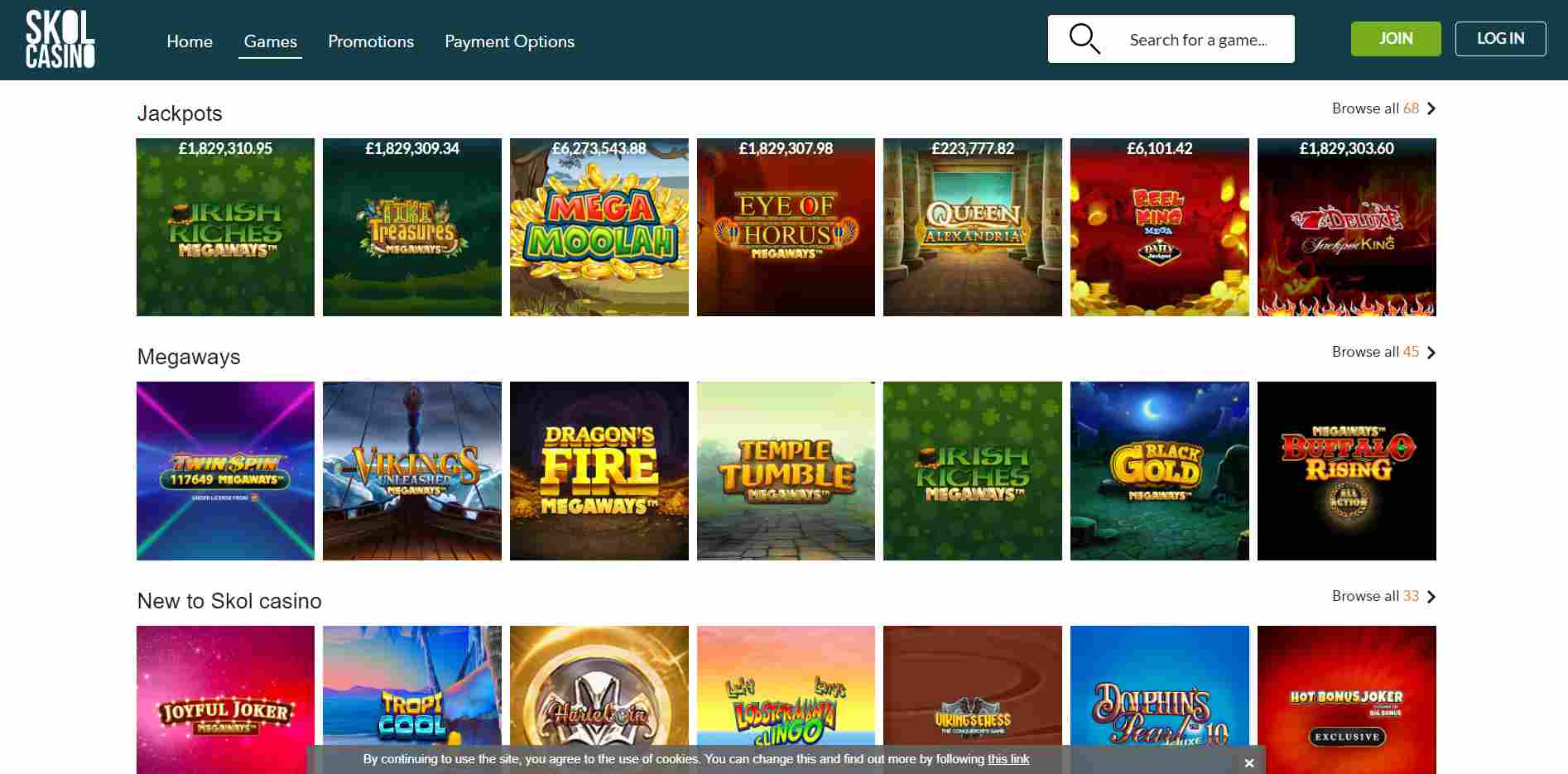 Skol Casino Virtual Games