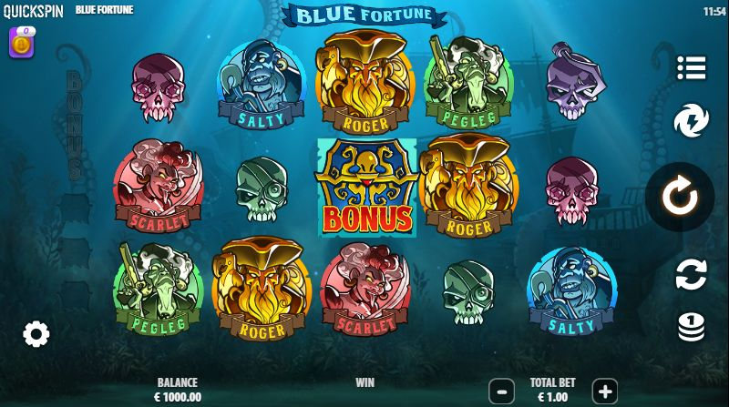 Blue Fortune Slot Gameplay