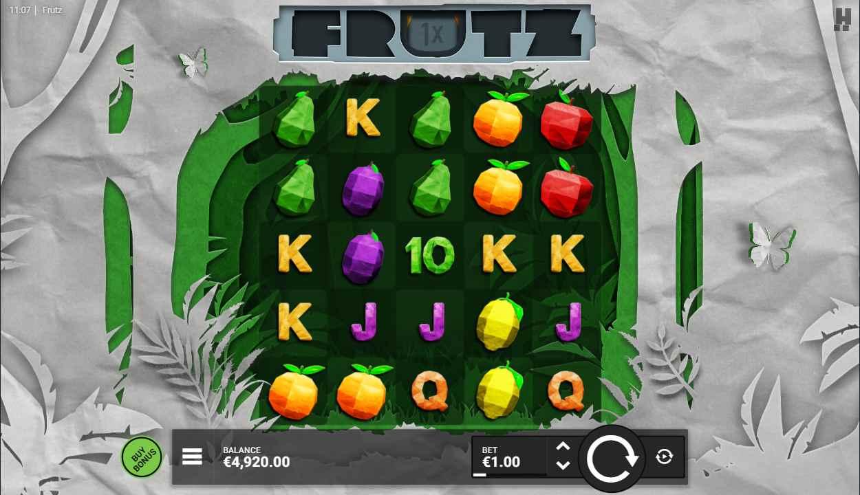 Frutz slot gameplay