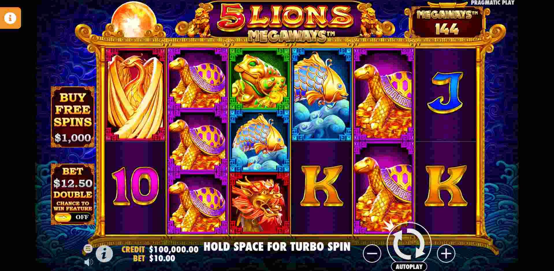 5 Lions Megaways Gameplay