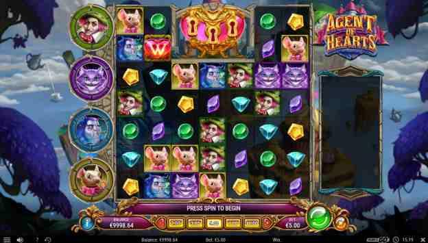 Agent of Hearts Slot Base Game