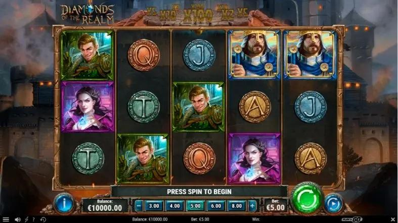 Diamonds of the Realm Slot Gameplay