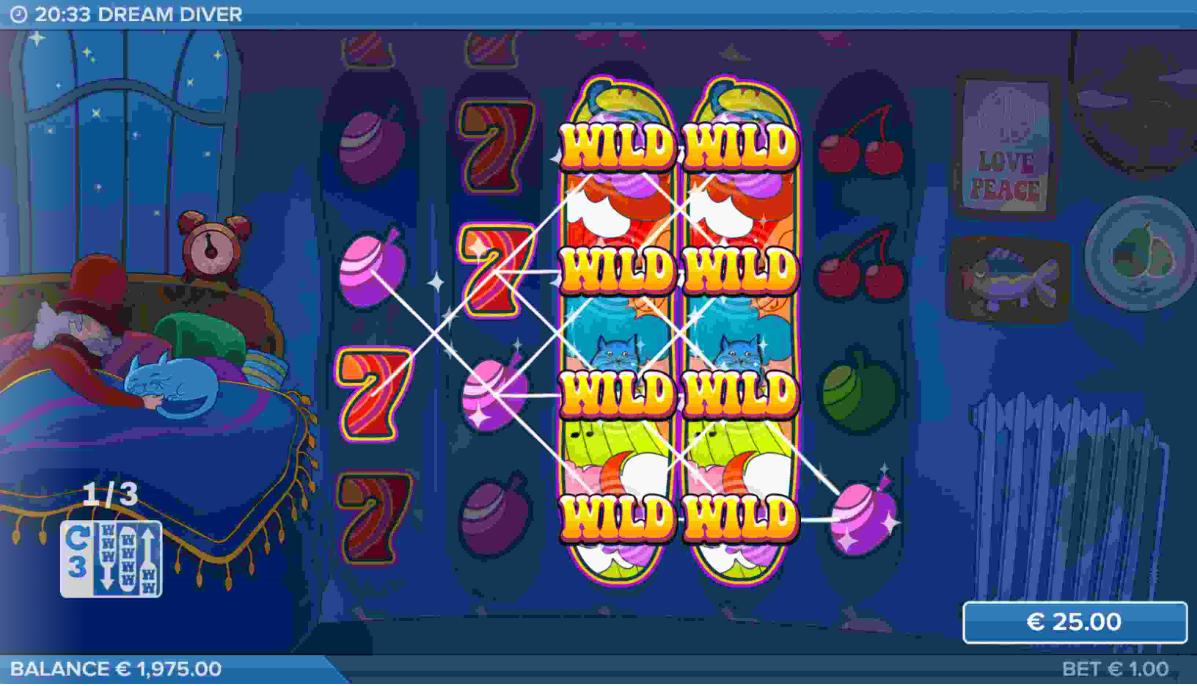 Dream Diver Slot Gameplay