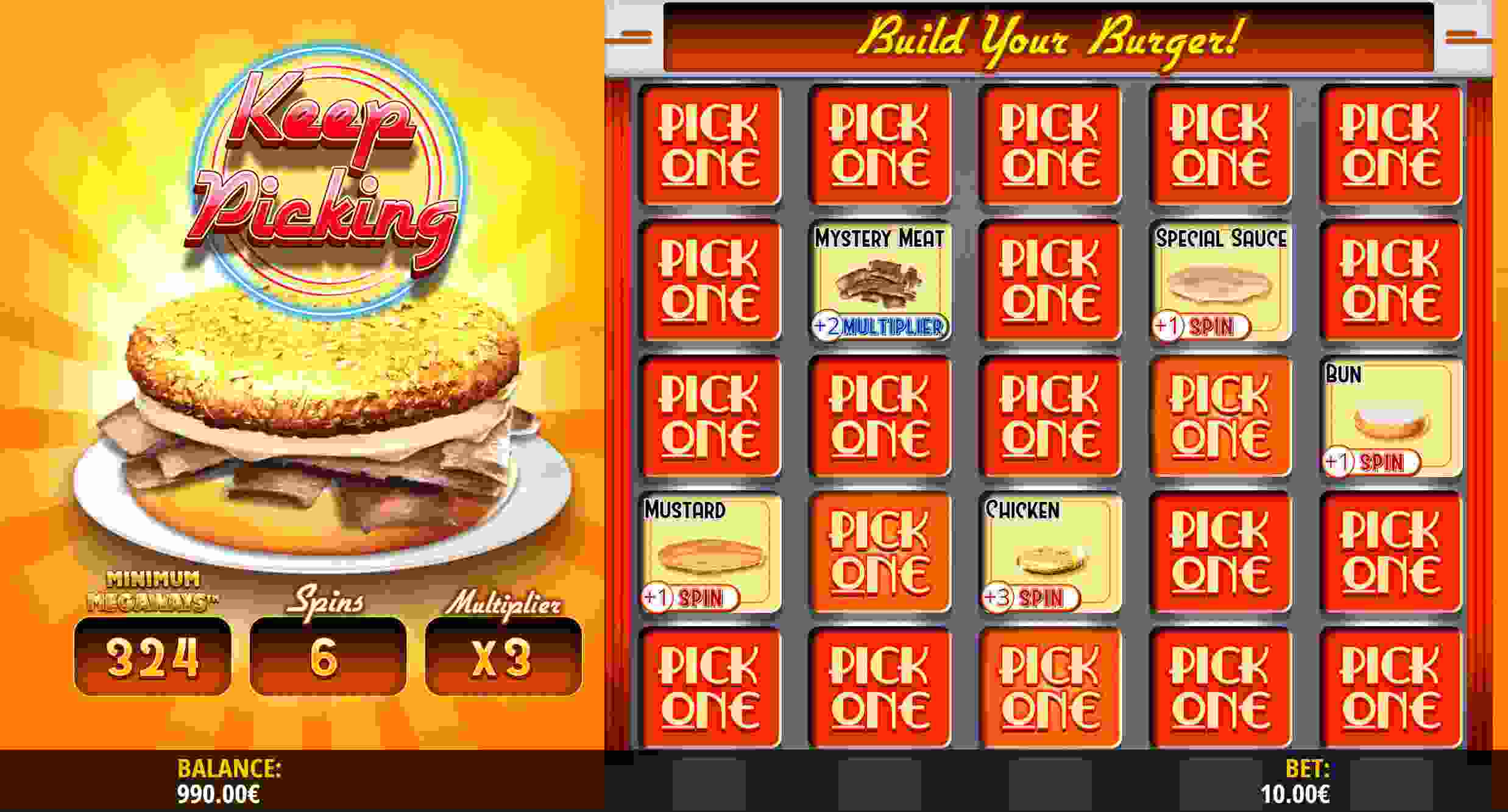 Royale with Cheese Megaways Build your Burger