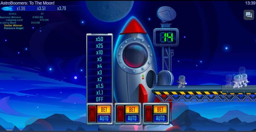 AstroBoomers Betting Options