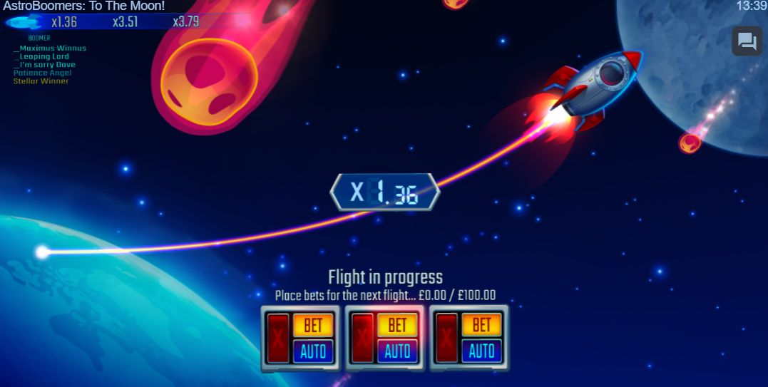 AstroBoomers To the Moon Gameplay