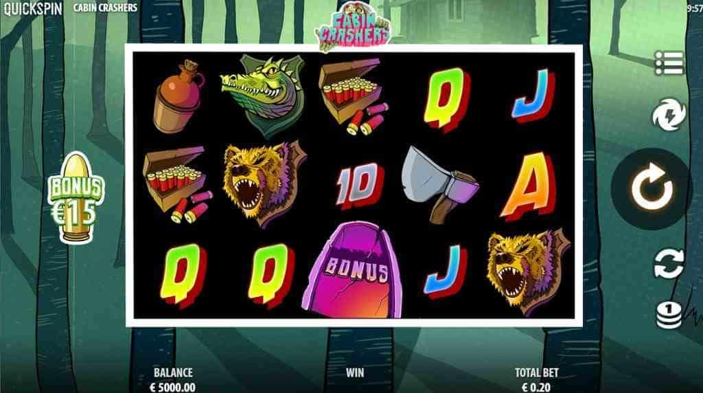 Cabin Crashers Slot Gameplay