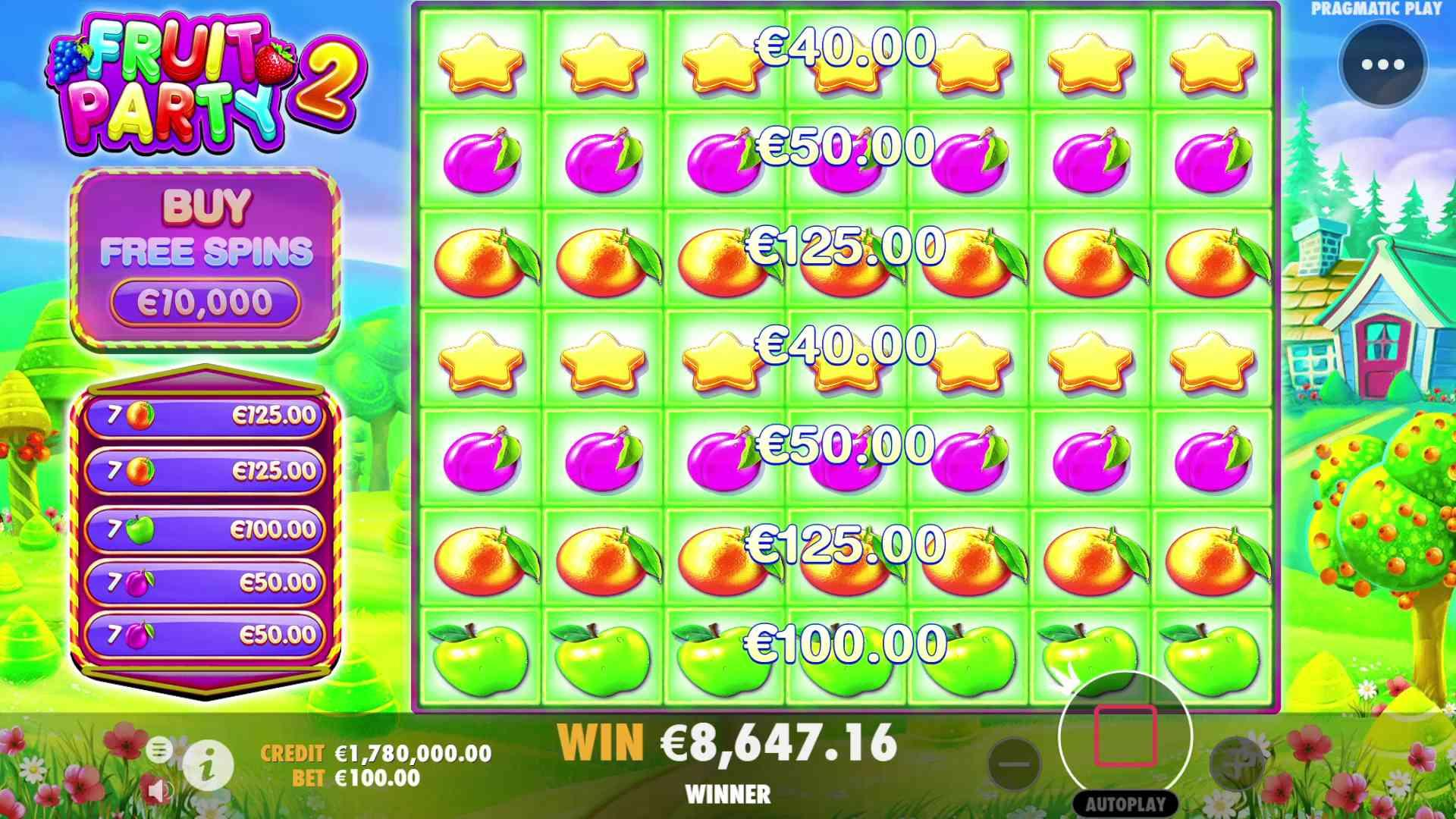 Fruit Party 2 Slot The Base Game