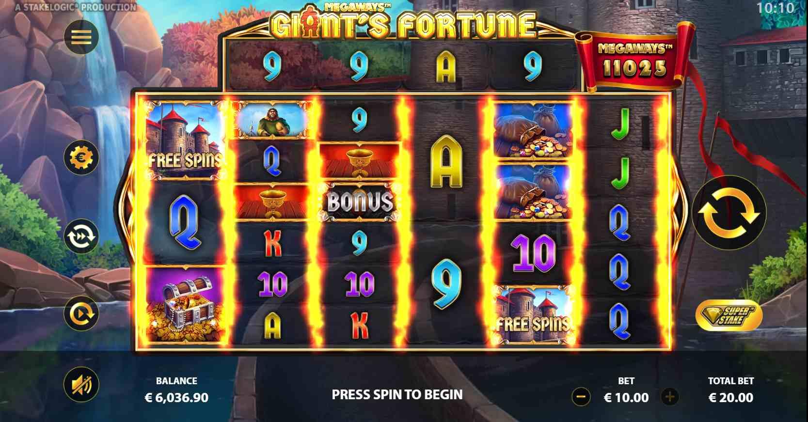 Giant's Fortune Megaways Slot Base Game