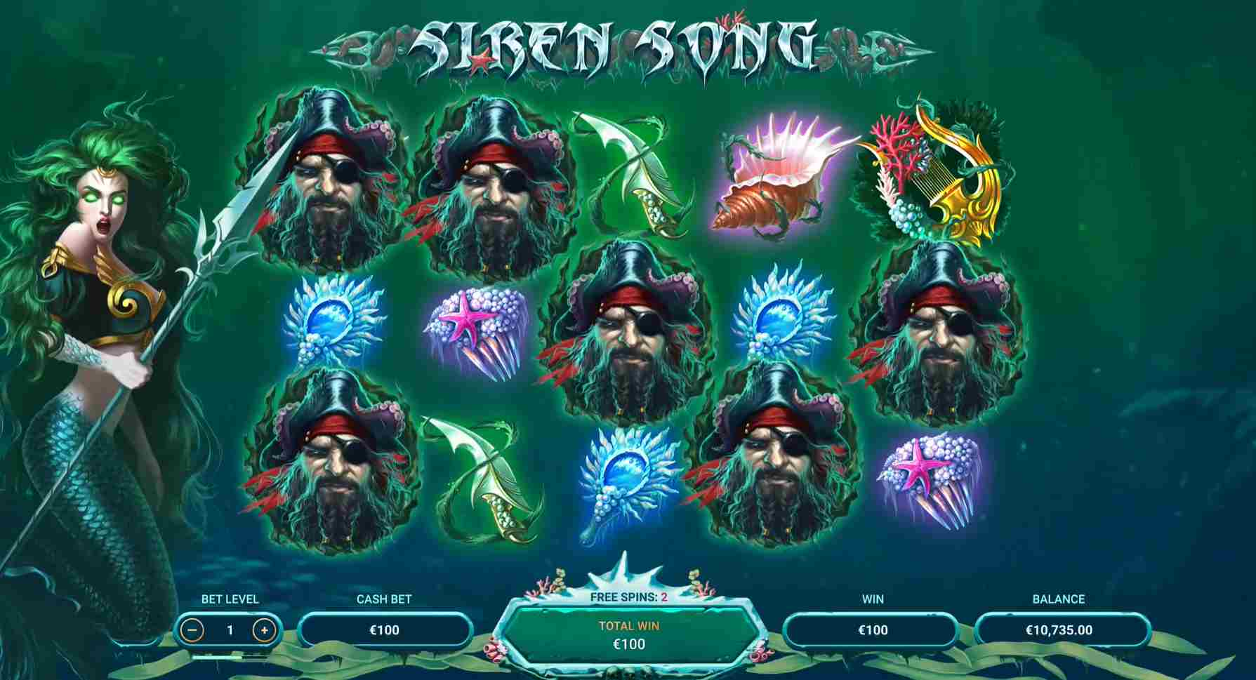 Siren Song Slot Emerald Free Spins