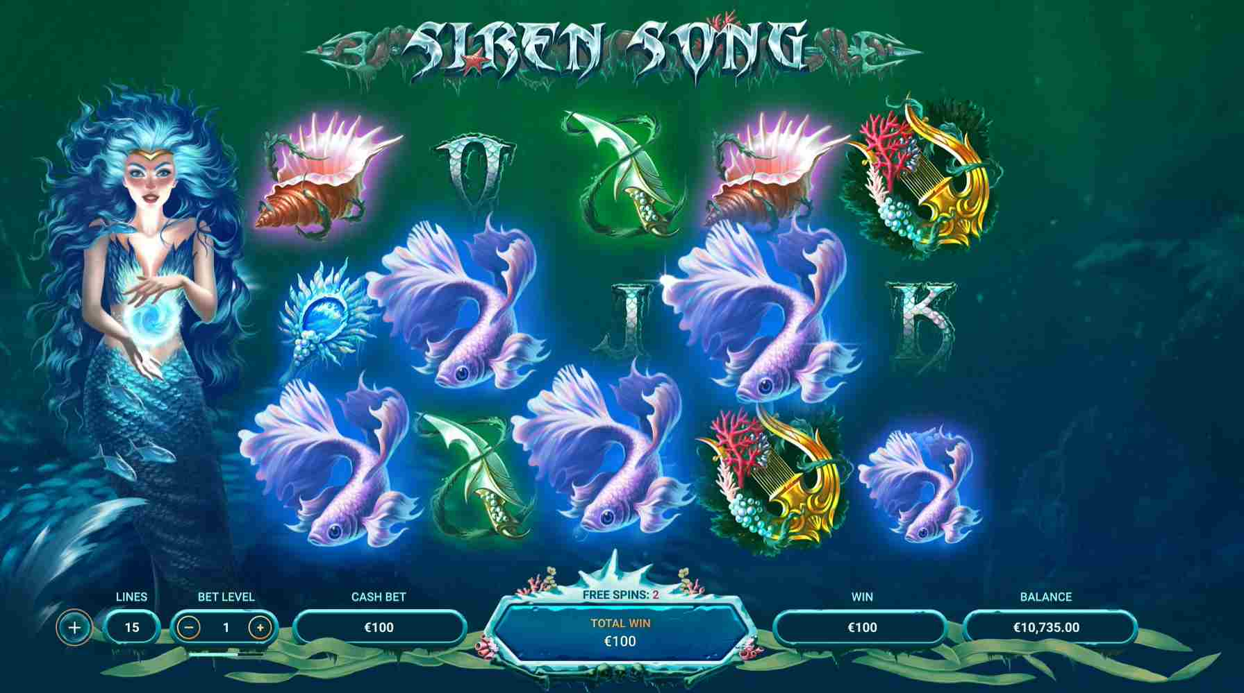 Siren Song Slot Silver Free Spins