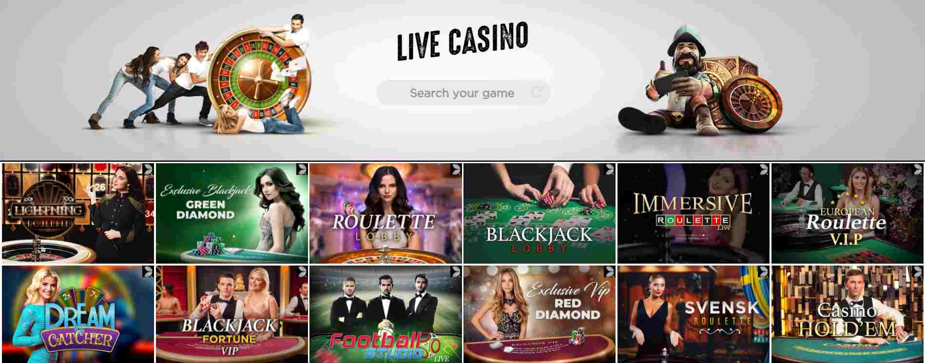 Spinit Casino Live Casino and Table Games
