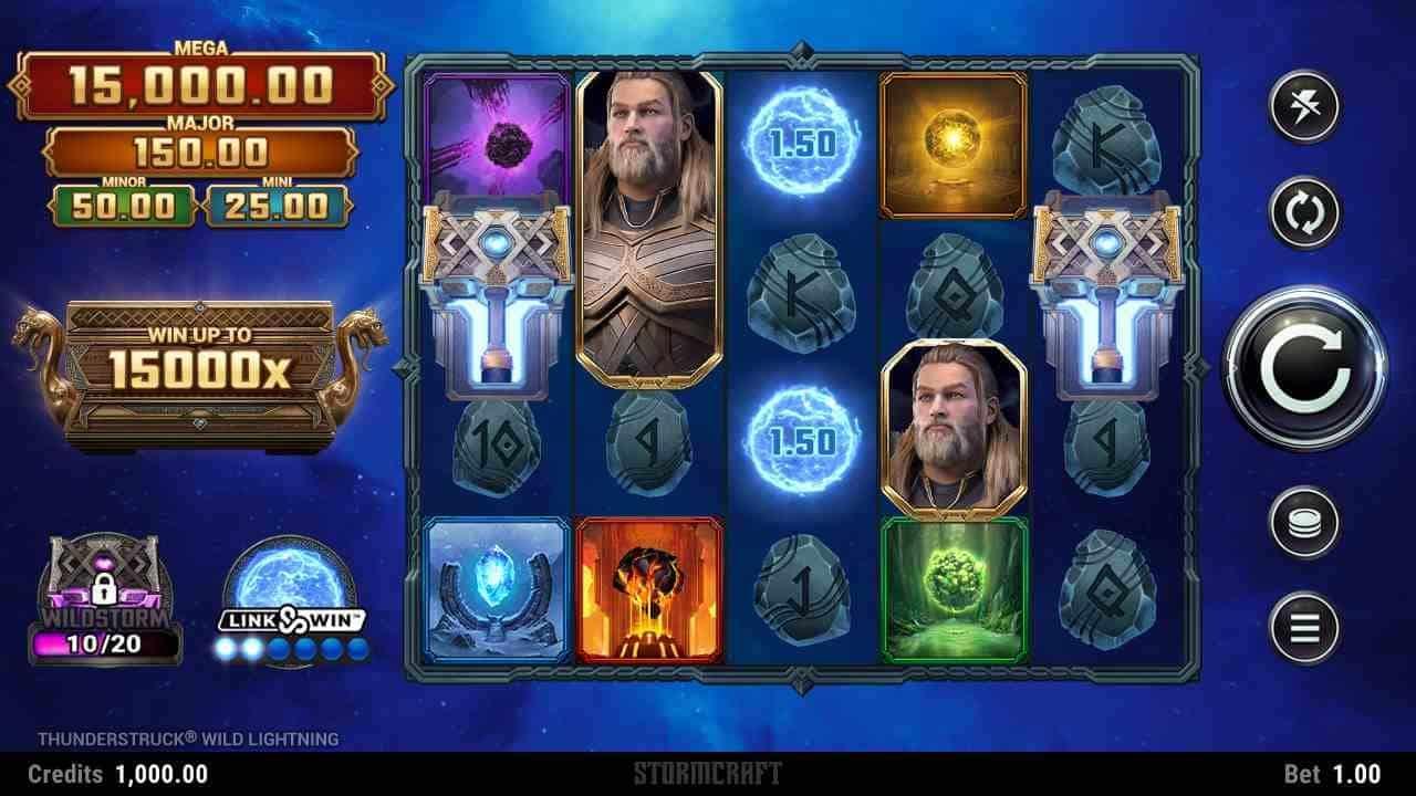 Thunderstruck Wild Lightning Slot The Base Game