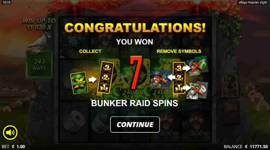 xWays Hoarder xSplit Slot Bunker Raid