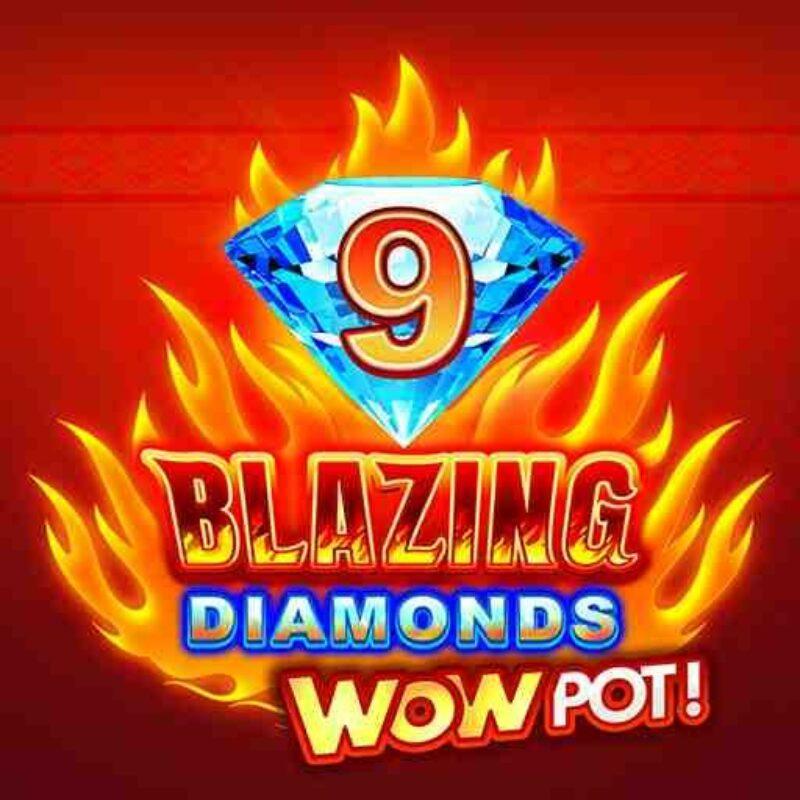 9 Blazing Diamond WowPot Slot Logo