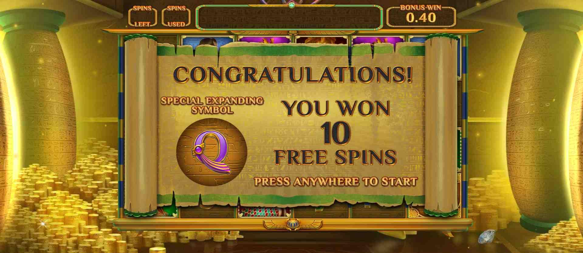 Crypt of Dead Slot Free Spins