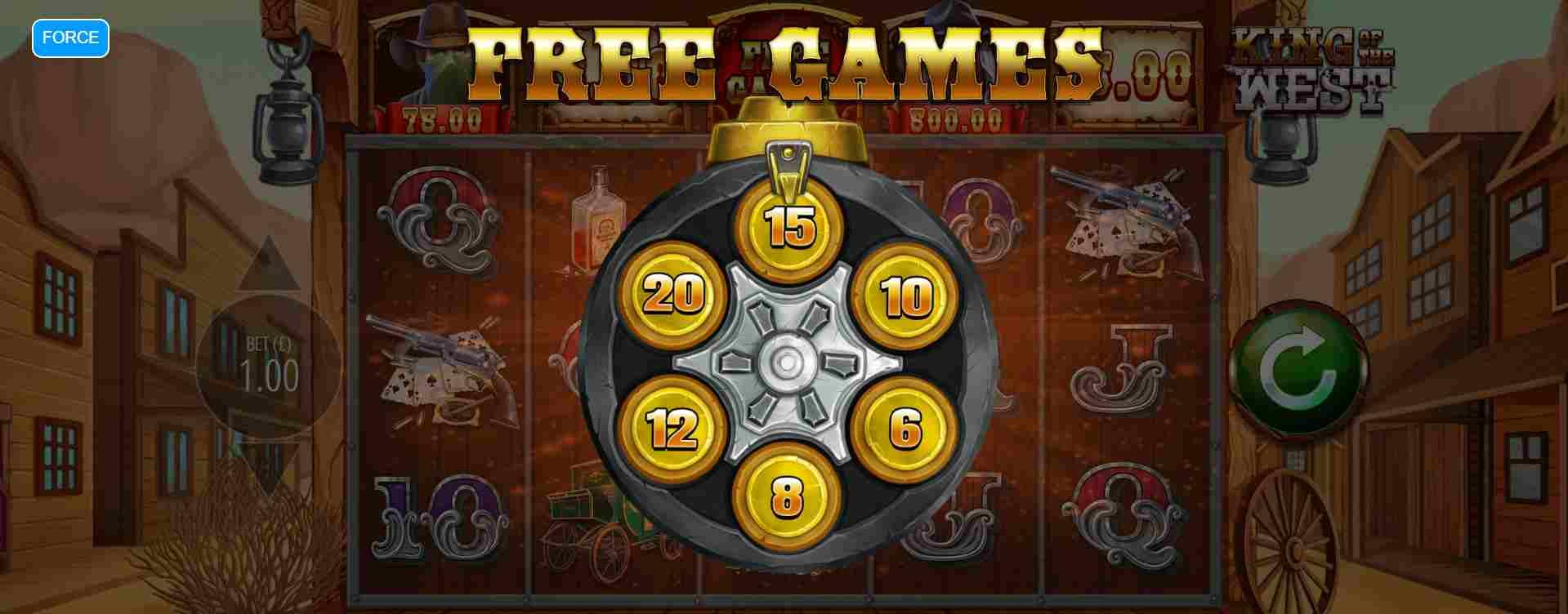 King of the West Free Spins