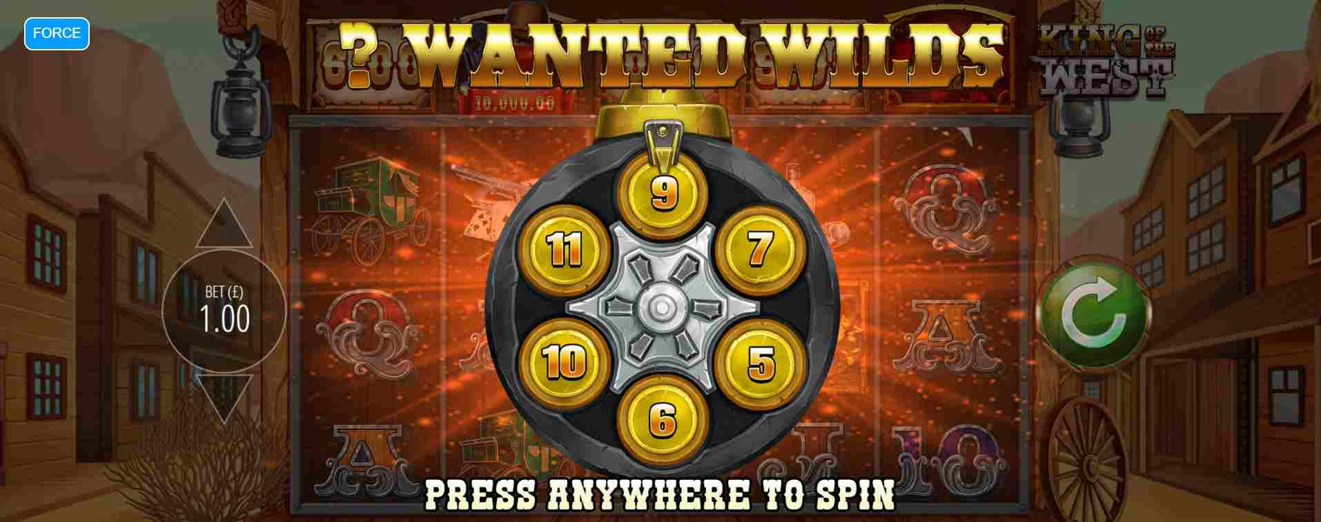 King of the West Slot Wanted Wilds