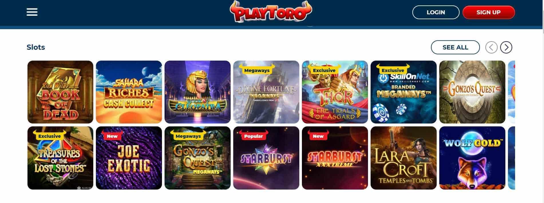 PlayToro Casino Slots