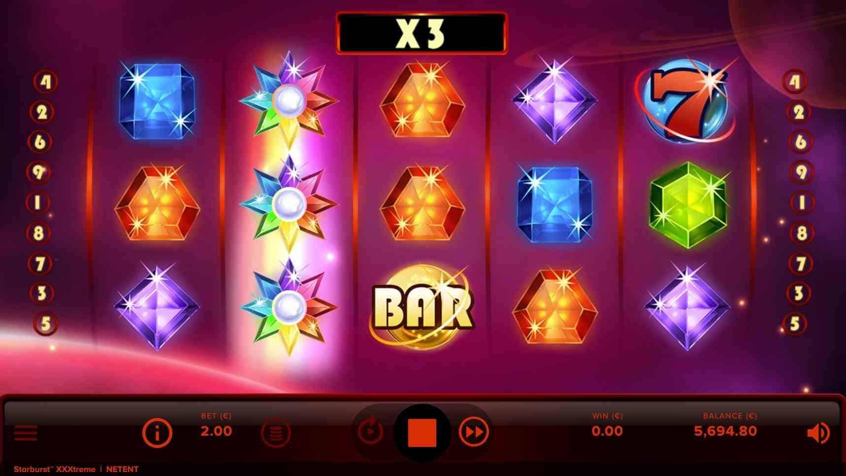 Starburst XXXtreme Slot Features