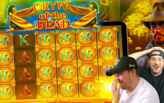 MASSIVE HIT ON THE NEW CRYPT OF THE DEAD SLOT!!
