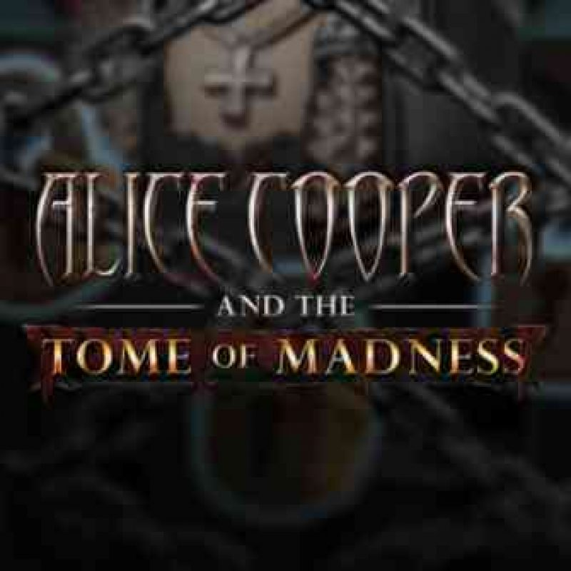 Alice Cooper and the Tome of Madness Slot Logo